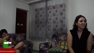 Cam-show: Pam teaching the fat girl and he how fuck. RAF088
